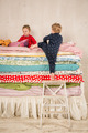 Children on the bed - Princess and the Pea. - PhotoDune Item for Sale