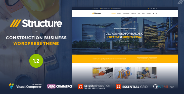 Structure - Construction Business WordPress Theme - Business Corporate