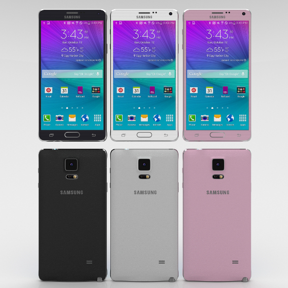 3DOcean Samsung Galaxy Note 4 Pack 11028475