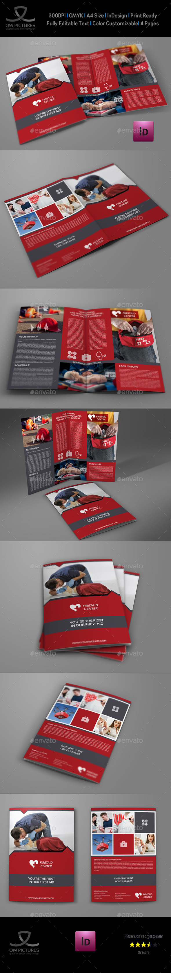 GraphicRiver First Aid Brochure Bi-Fold Template 10996188
