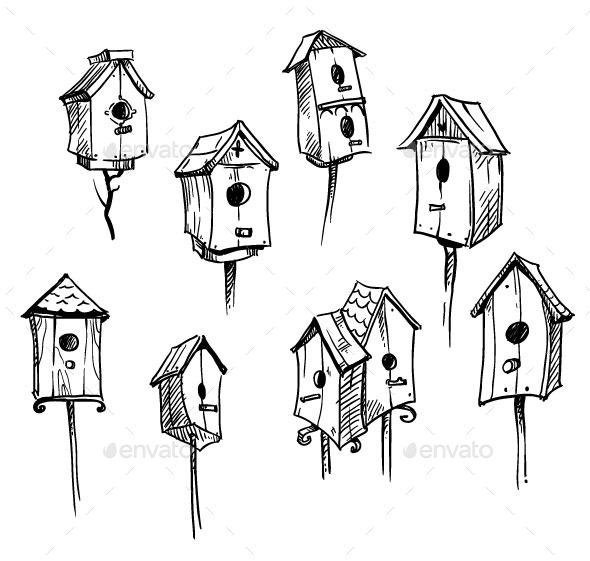 GraphicRiver Bird Houses 11028575