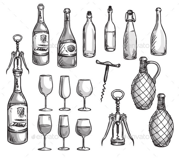 GraphicRiver Wine Elements 11028581