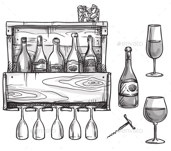 GraphicRiver Wine Elements 11028595