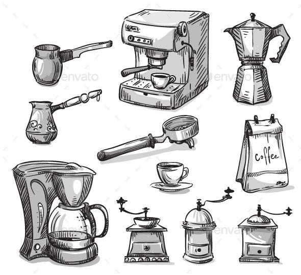 GraphicRiver Coffee Maker Elements 11028649