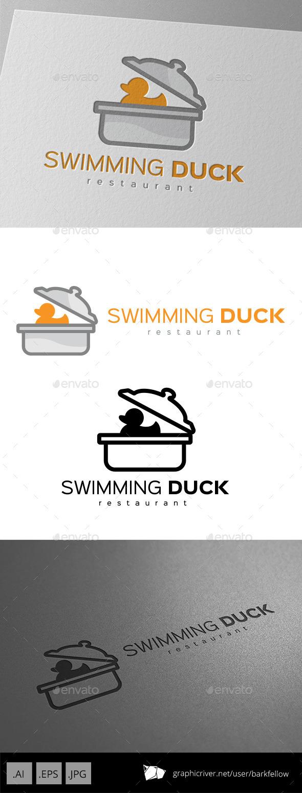GraphicRiver Swimming Duck Restaurant Logo Design 11029618