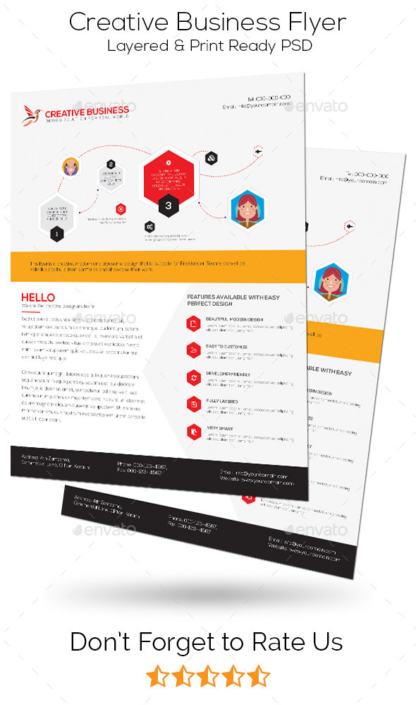 GraphicRiver Creative Business Flyer 11029726