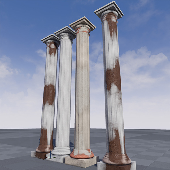 3DOcean High Quality Greek Pillar UE4 11029934