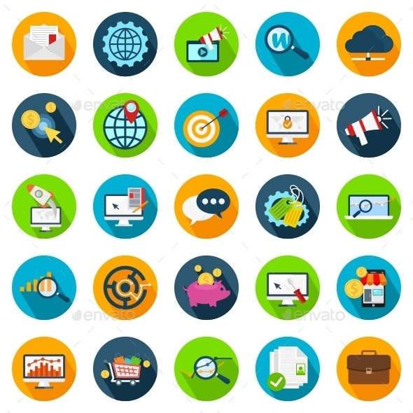 GraphicRiver SEO and Development Icons 11029935