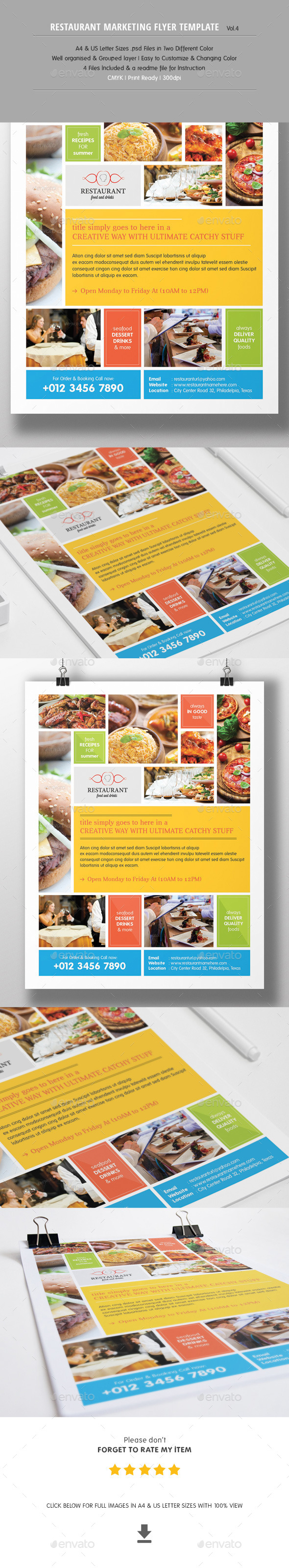 Restaurant Marketing Flyer Vol.3