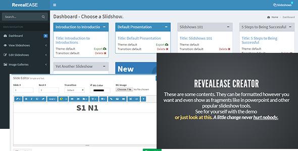 CodeCanyon RevealEASE Presentation Creator 11030203