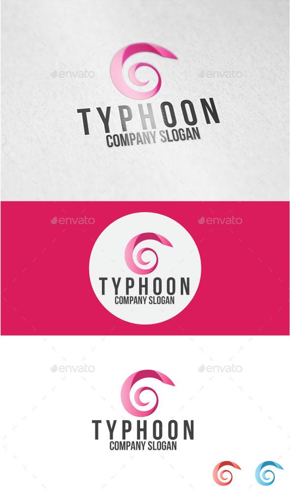 GraphicRiver Typhoon Logo 11030224