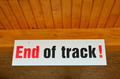 End of track sign - PhotoDune Item for Sale