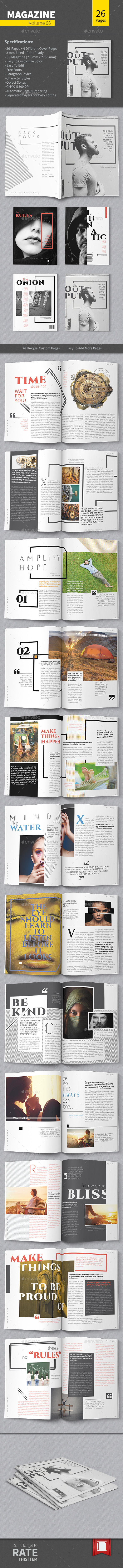 GraphicRiver Magazine Template Volume 06 11030670