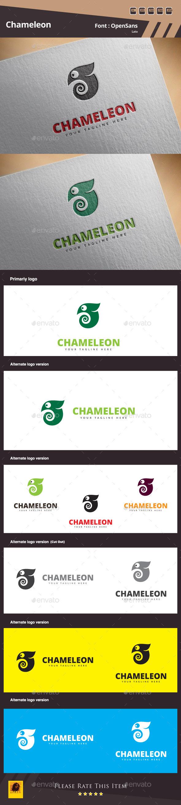 GraphicRiver Chameleon Logo Template 11030807