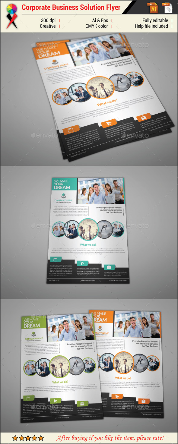 GraphicRiver Professional Creative Corporate Business Flyer 11031011