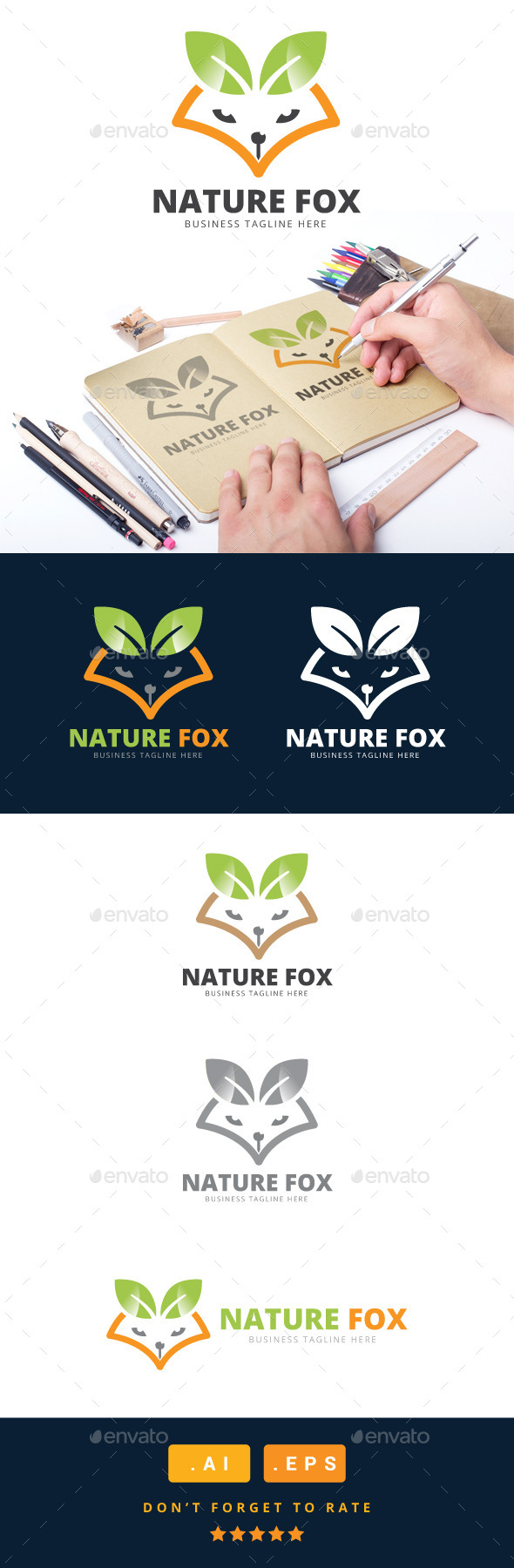 GraphicRiver Nature Fox Logo 11031120