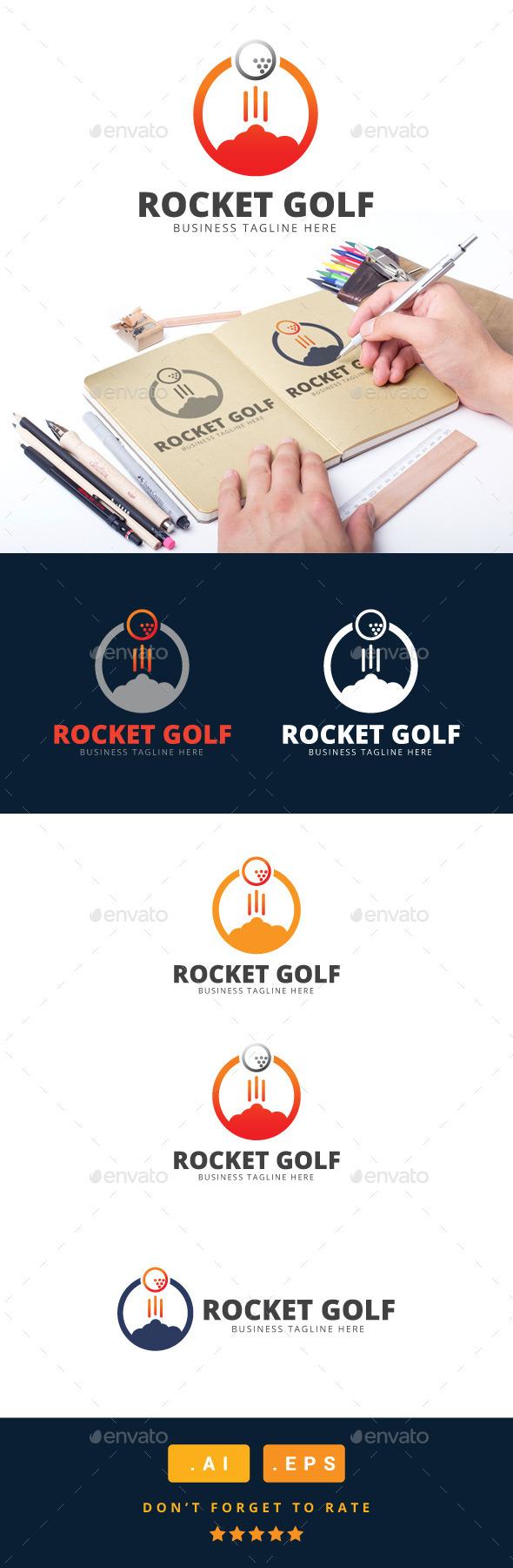 GraphicRiver Rocket Golf Logo 11031183