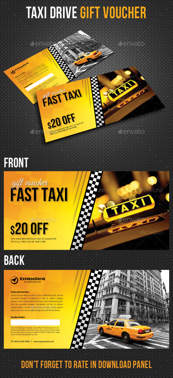 GraphicRiver Taxi Drive Gift Voucher V01 11031281
