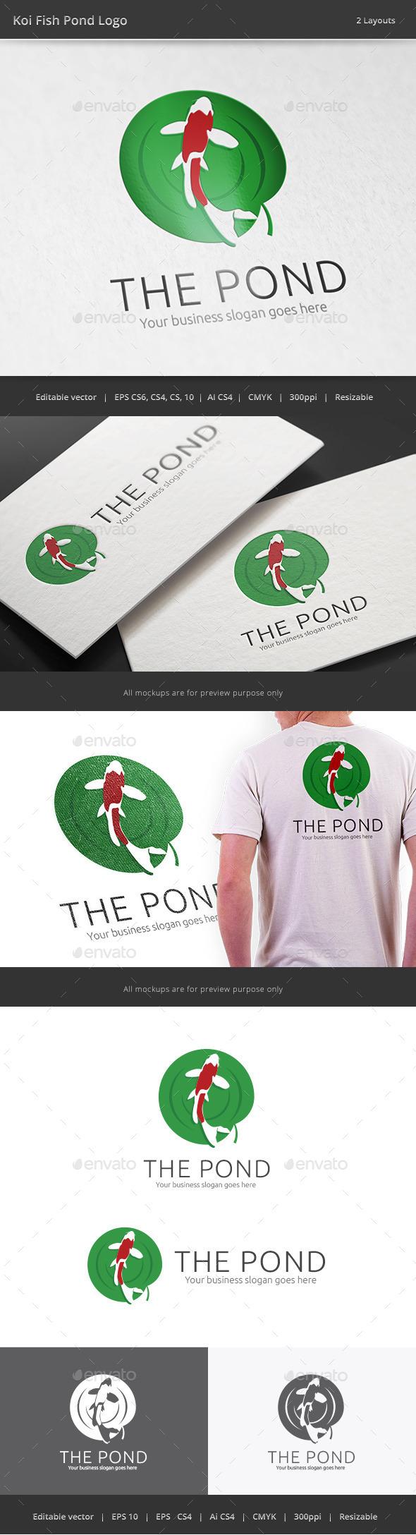 GraphicRiver Koi Fish Pond Logo 11031330