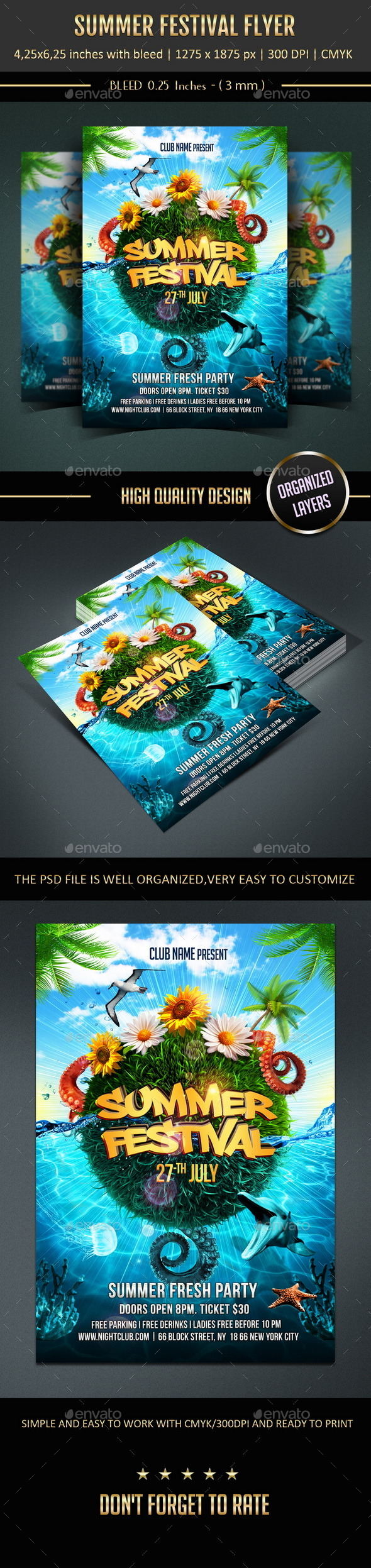 GraphicRiver Summer Festival Flyer 11031434