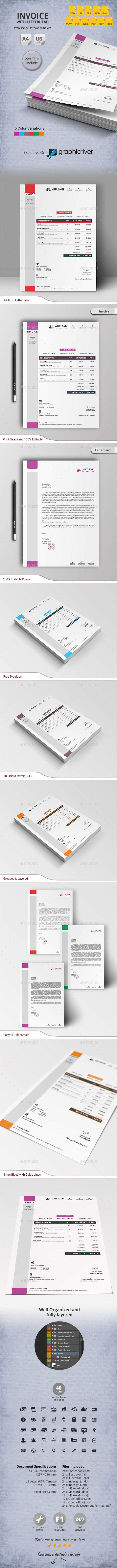 GraphicRiver Invoice with Letterhead 11031526