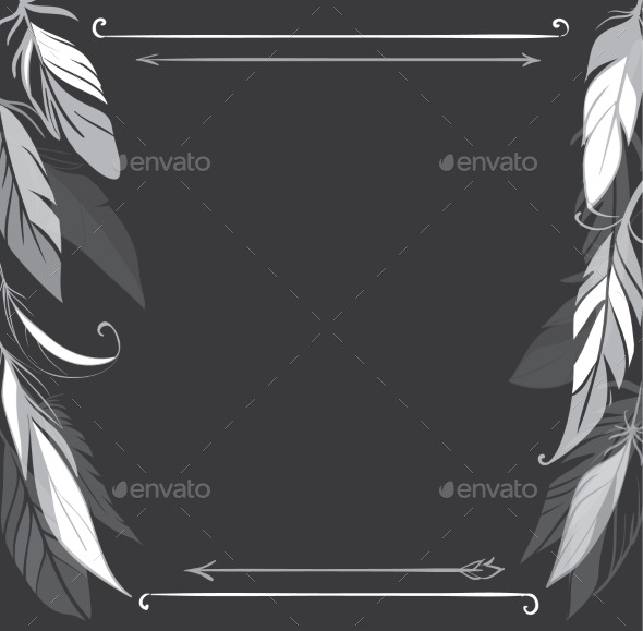 GraphicRiver Feather Frame 11031539