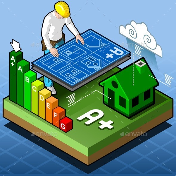 GraphicRiver Isometric Infographic Energy Performance 11031571