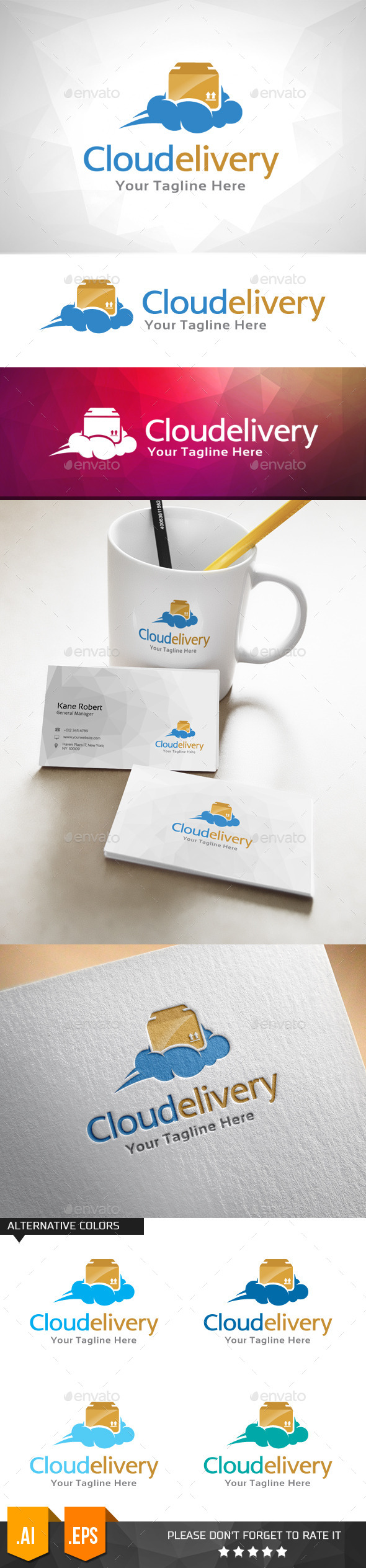 GraphicRiver Cloud Delivery Logo Template 11031637