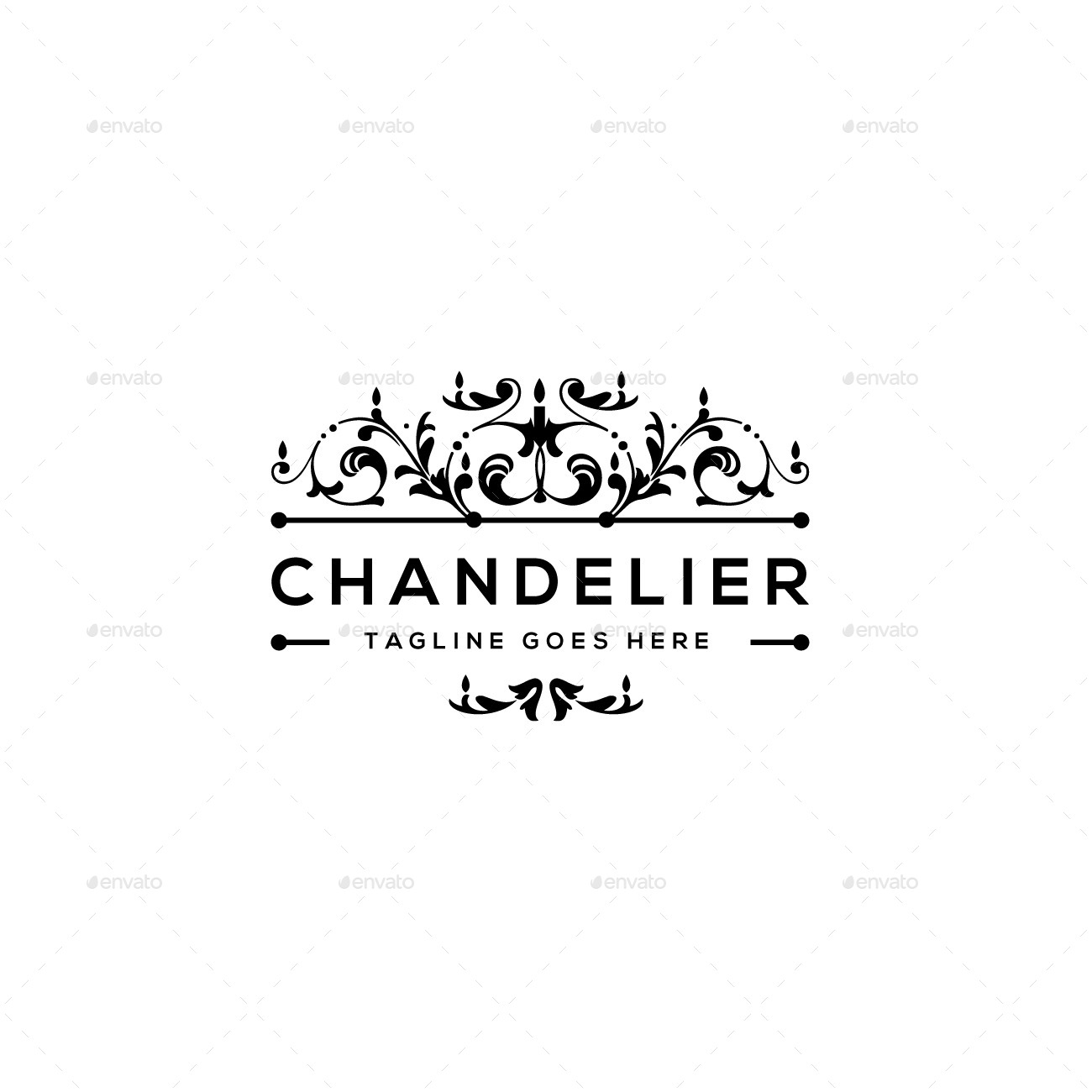chandelier logo template by designgarrad