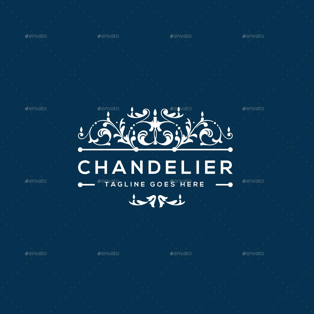 Chandelier Logo Template by designgarrad – Chandelier Logo