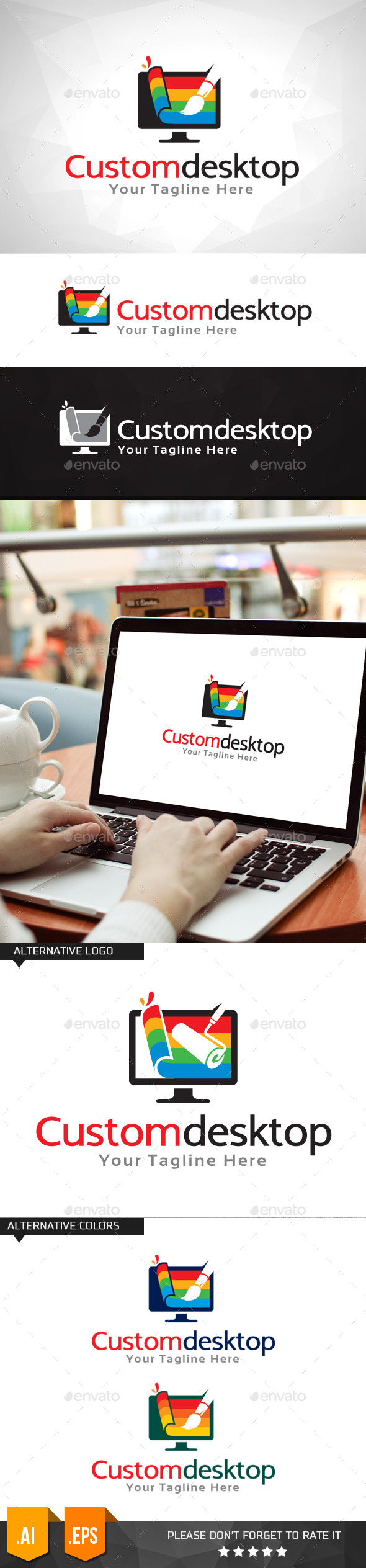 GraphicRiver Custom Desktop Logo Template 11031709