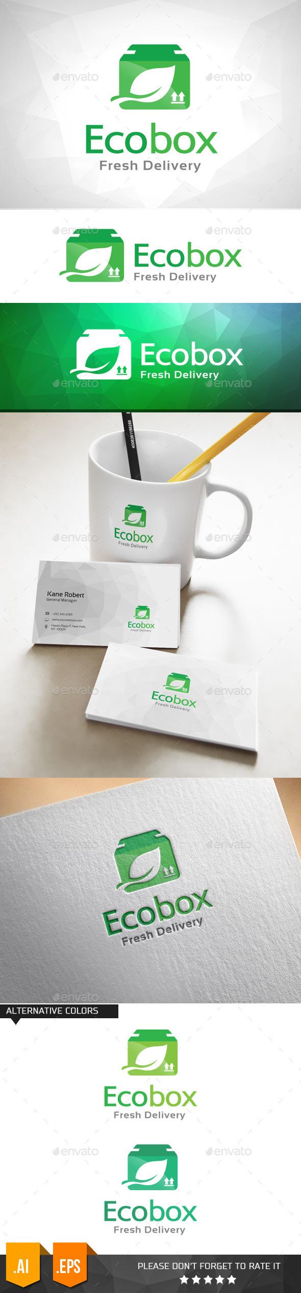 GraphicRiver Eco Box Fresh Delivery Logo Template 11031745