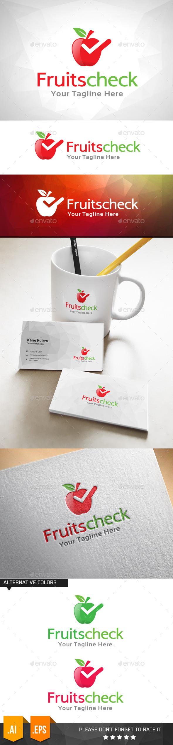 GraphicRiver Fruits Check Logo Template 11031781