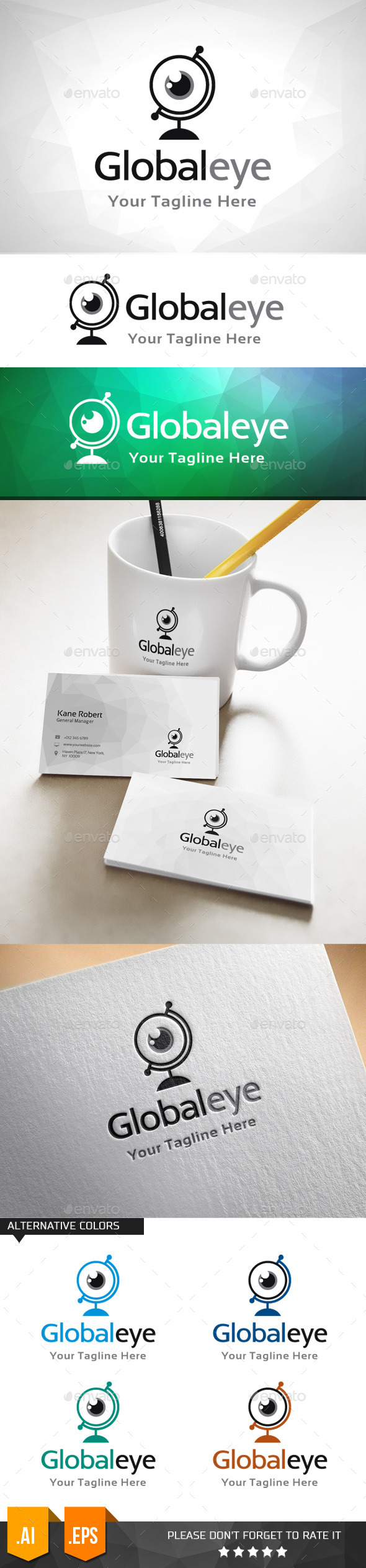 GraphicRiver Global Eye Logo Template 11031803