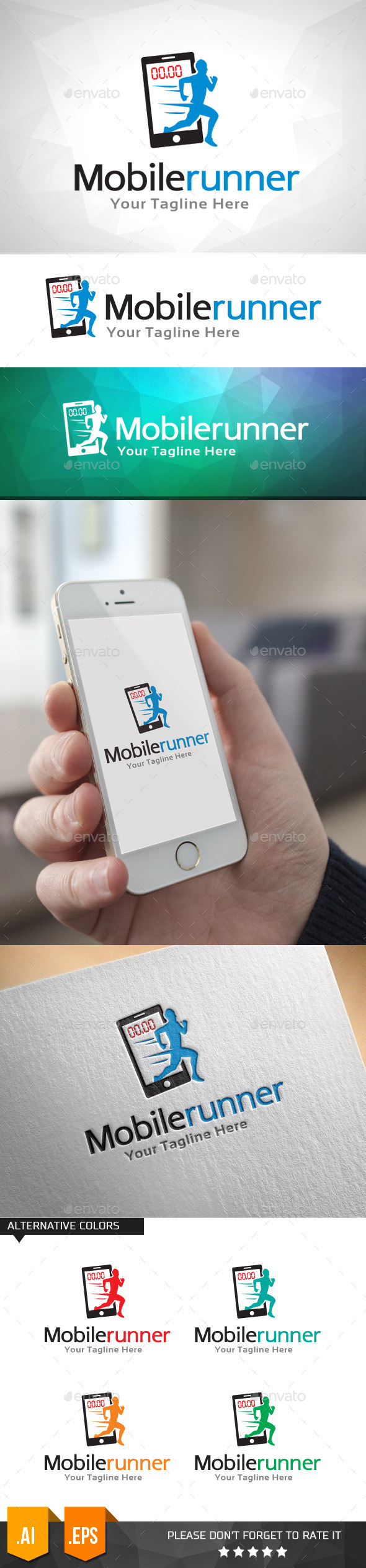 GraphicRiver Mobile Runner Logo Template 11031816