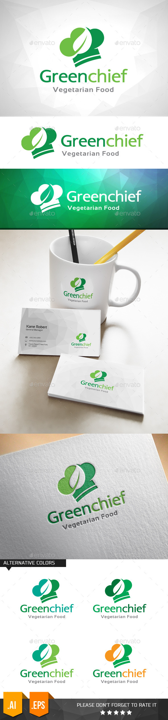 GraphicRiver Green Chief Logo Template 11031851