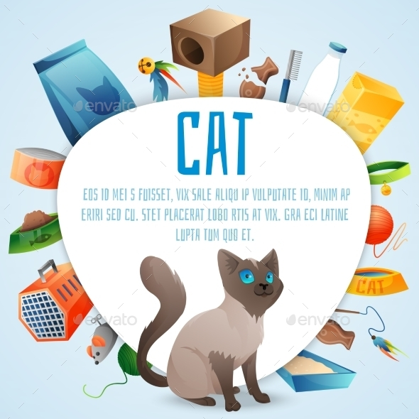GraphicRiver Cat Stuff Set 11031896