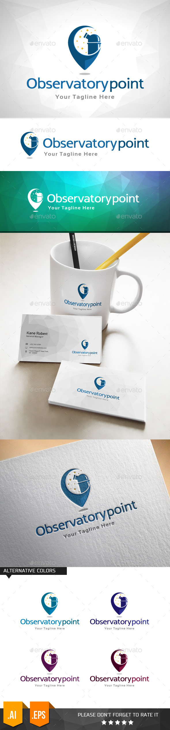 GraphicRiver Observatory Point Logo Template 11031910