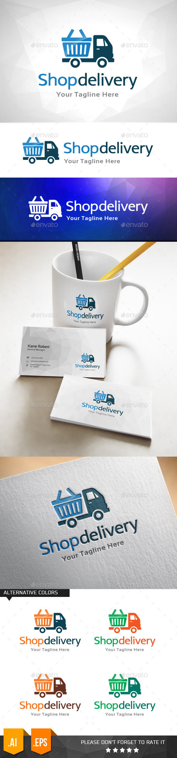 GraphicRiver Shop Delivery Logo Template 11031970