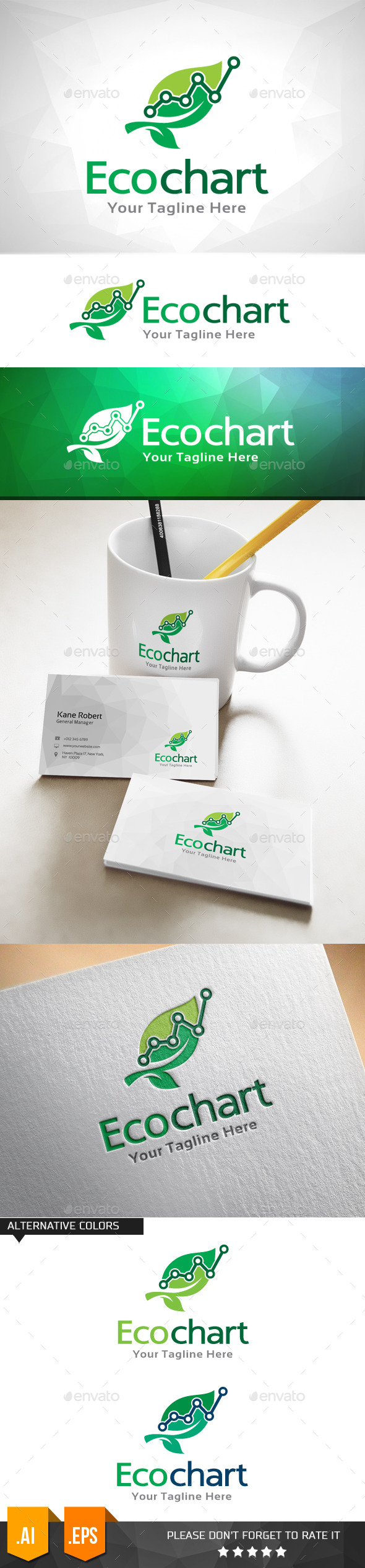 GraphicRiver Eco Chart Logo Template 11031984