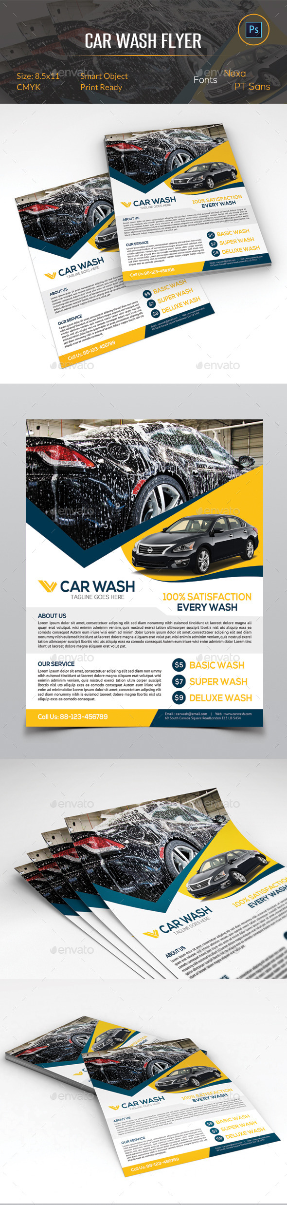GraphicRiver Car Wash Flyer 11032410