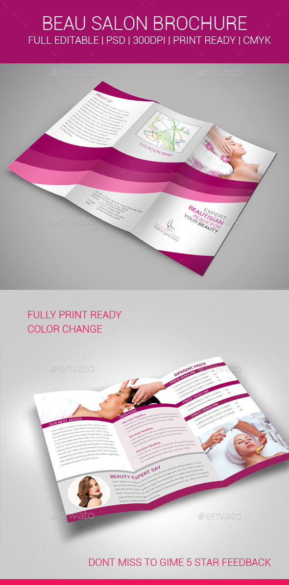 GraphicRiver Beauty Salon Brochure 11032627
