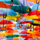 umbrellas blurred background - PhotoDune Item for Sale