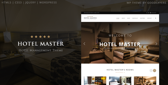 ThemeForest Hotel Master Hotel Booking WordPress Theme 11032879