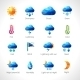 Weather Polygonal Icons - GraphicRiver Item for Sale
