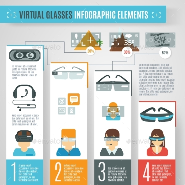 GraphicRiver Virtual Glasses Infographics 11032967