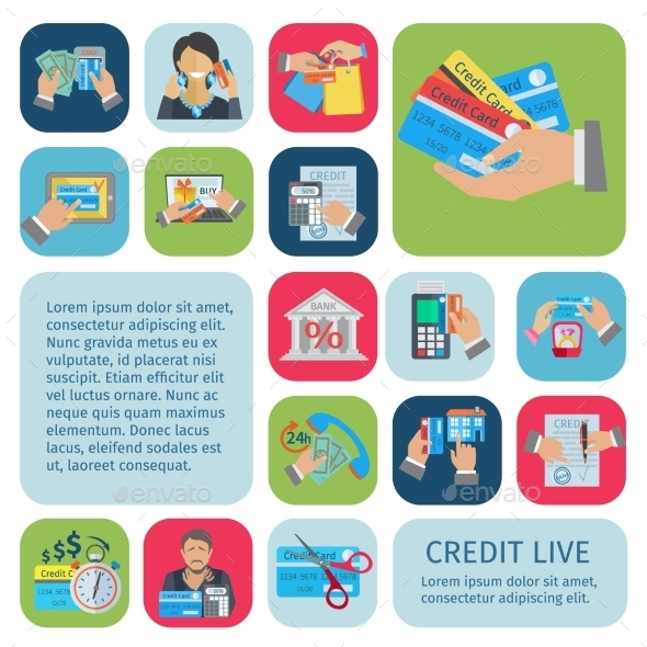 GraphicRiver Credit Life Set 11033077