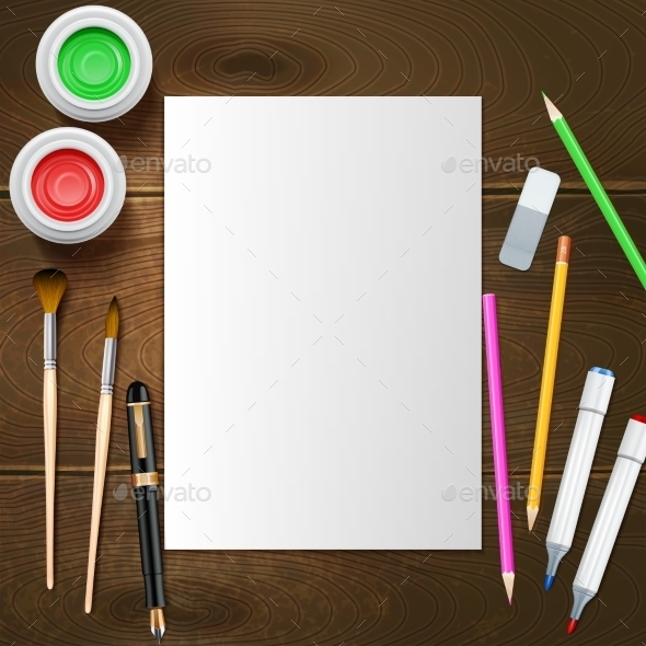 GraphicRiver Painter Mockup Illustration 11033083