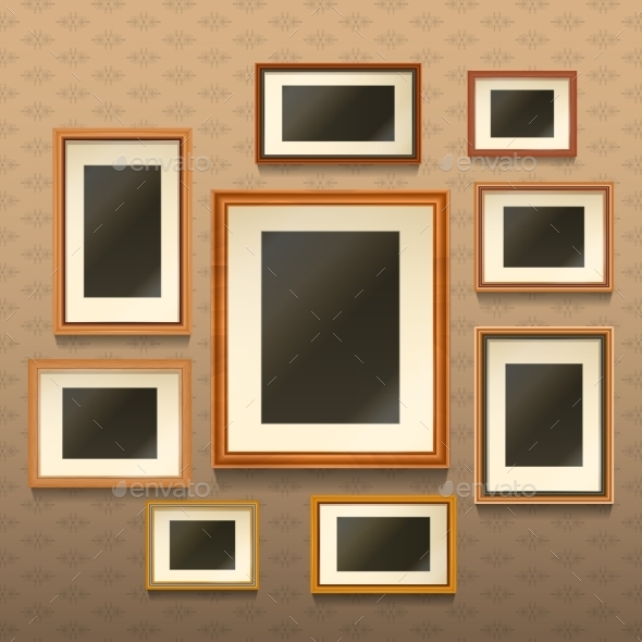 GraphicRiver Picture Frames On Wall 11033101