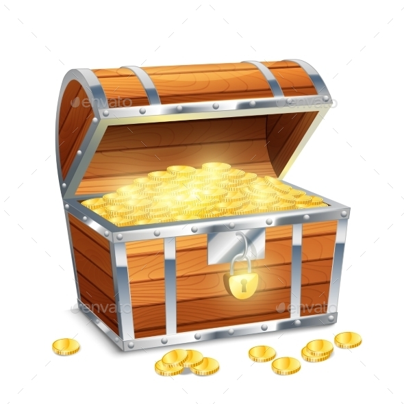GraphicRiver Chest With Coins 11033114